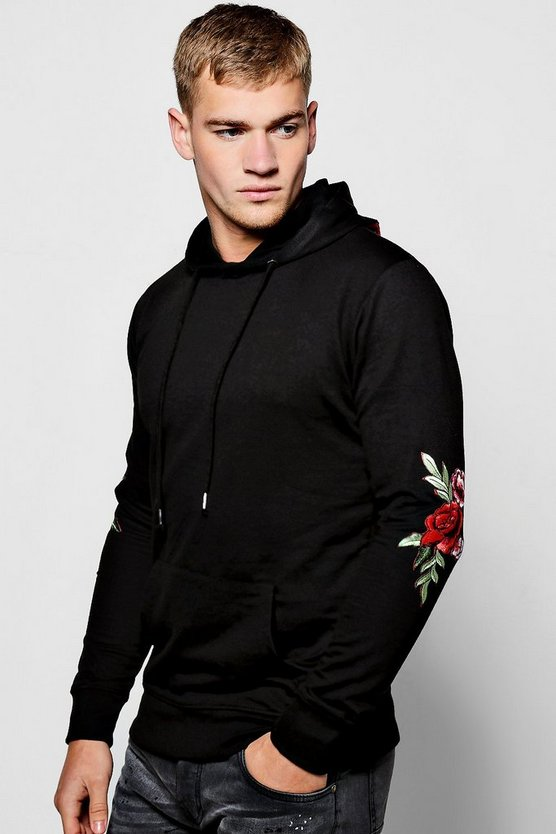 Multi Floral Embroidered Hoodie