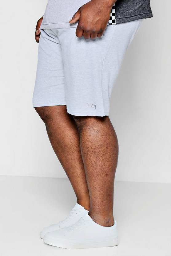 Big And Tall MAN Mid Length Jersey Shorts