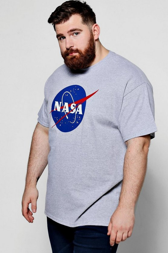 Big And Tall NASA Print T-Shirt