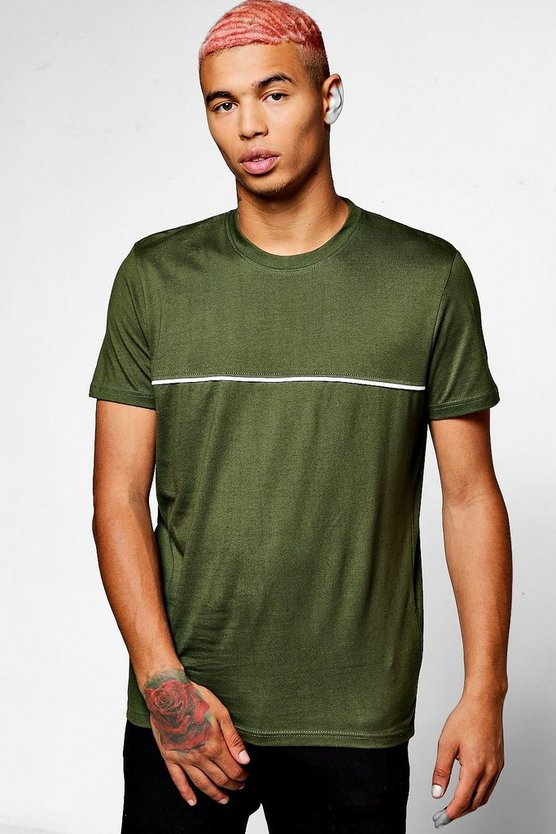Short Sleeve T-Shirt With Piping