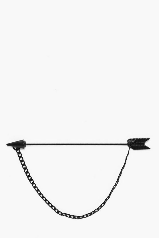 Black Arrow And Chain Collar Bar