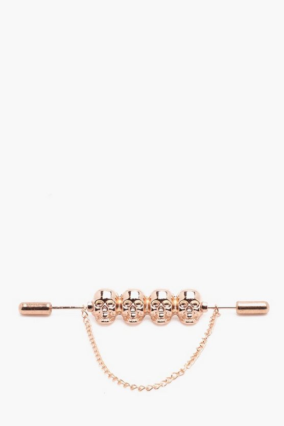 Gold Skull And Chain Collar Bar