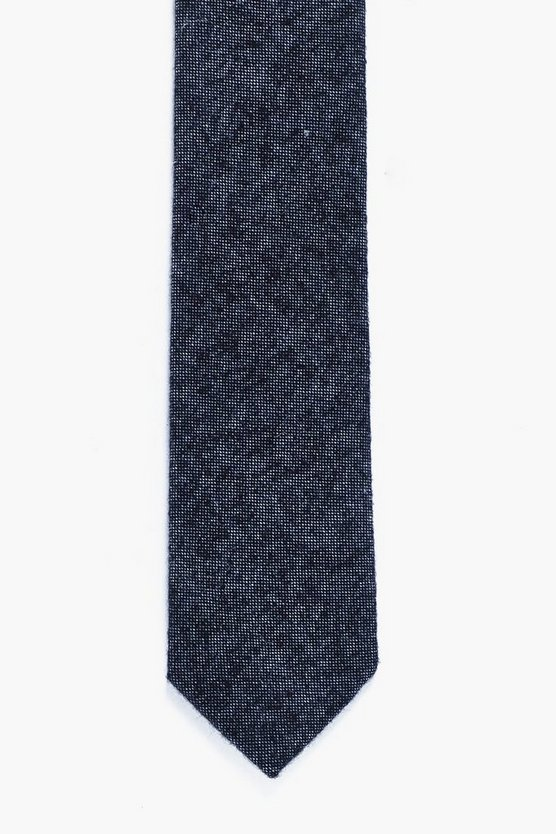 Charcoal Brushed Skinny Tie