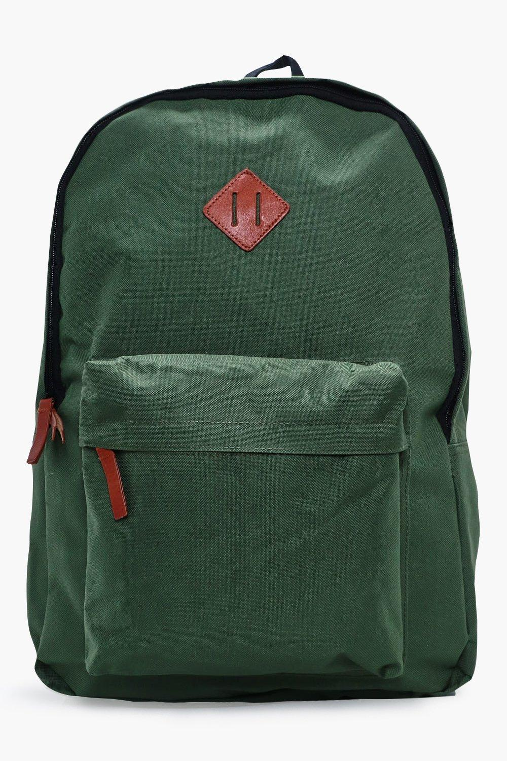 Canvas Backpack - green - Plain Canvas Backpack -