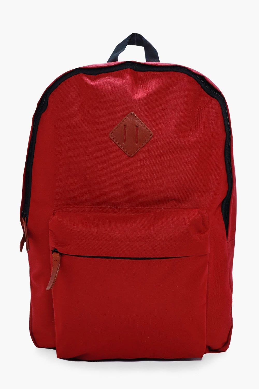 Canvas Backpack - burgundy - Plain Canvas Backpack