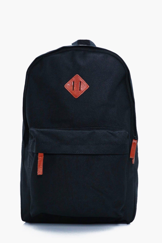 Canvas Backpack - black - Plain Canvas Backpack -