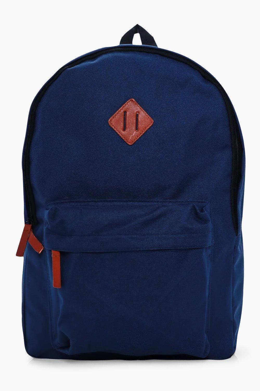 Canvas Backpack - navy - Plain Canvas Backpack - n