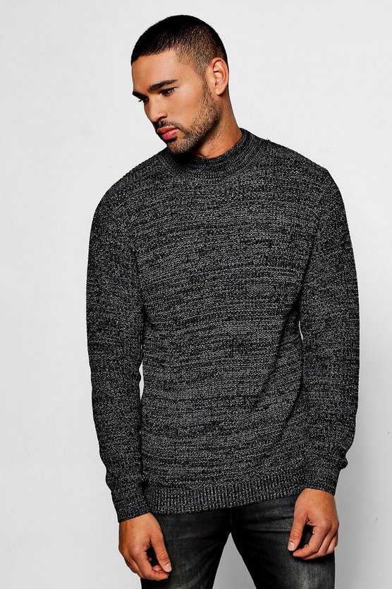 Twist Knit Turtle Neck Jumper