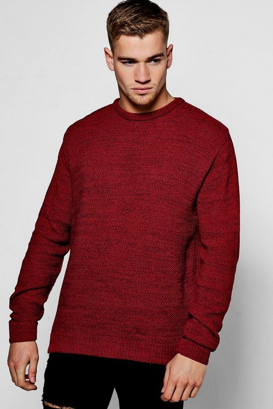 Textured Twist Crew Neck Jumper