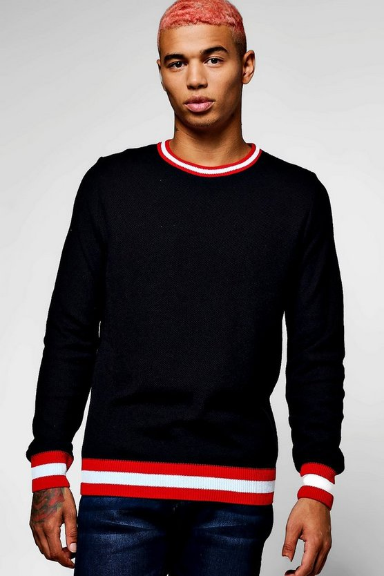 Sports Trim Crew Neck Jumper