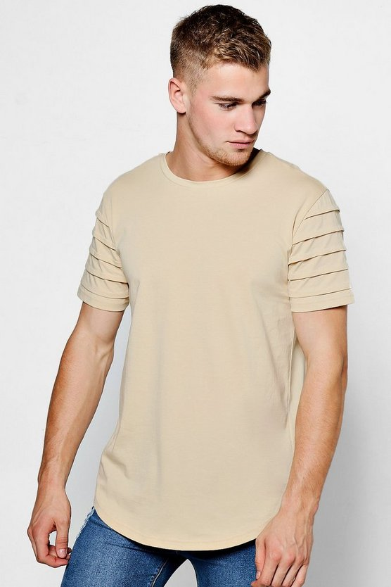 Biker T-Shirt With Curved Hem