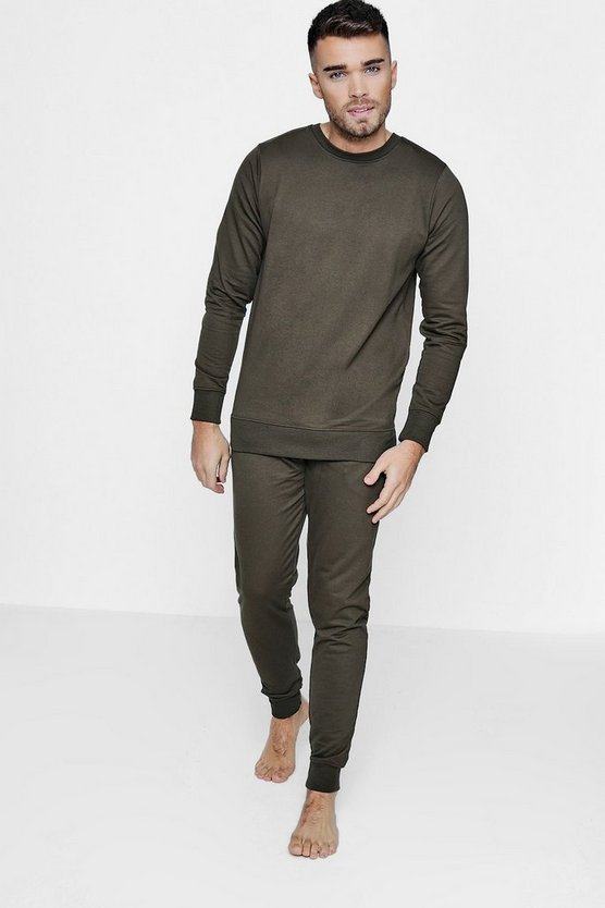 Crew Neck Sweater & Lounge Pant Set
