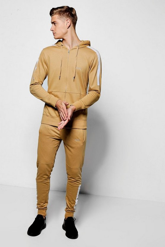 Skinny Fit Biker Panel MAN Tracksuit