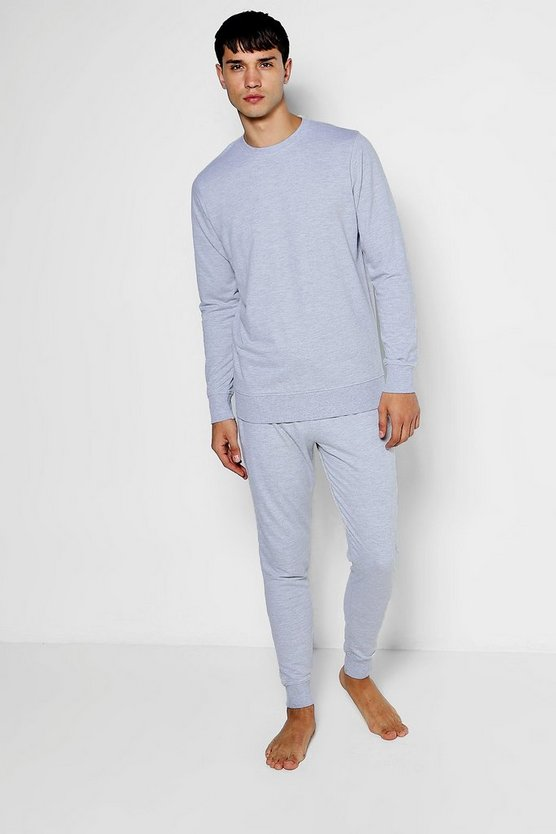 Crew Neck Sweater & Skinny Jogger Lounge Set