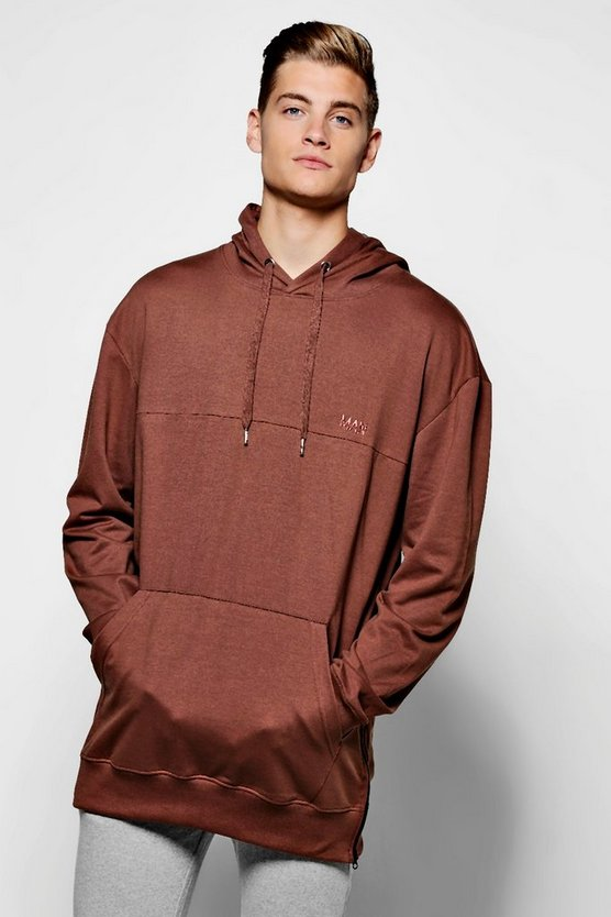 Loose Fit MAN Branded Hoodie
