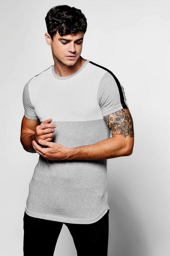 Skater MAN Skinny Fit T-Shirt With Panel
