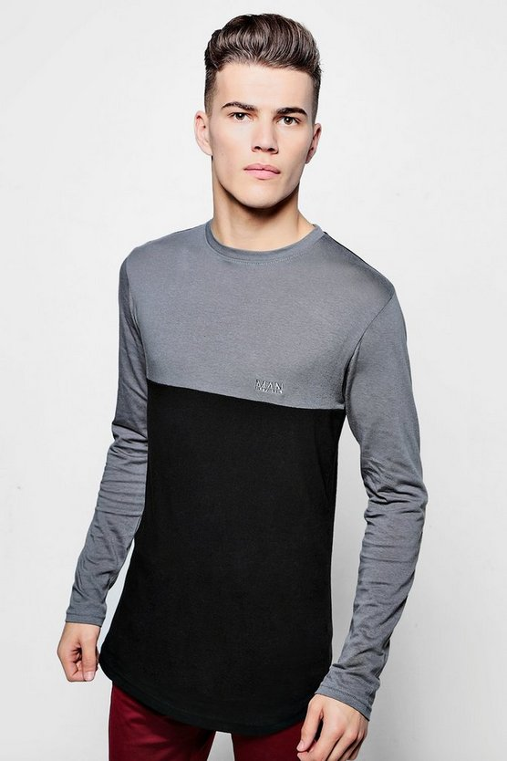Long Sleeve Skater Muscle MAN T-Shirt