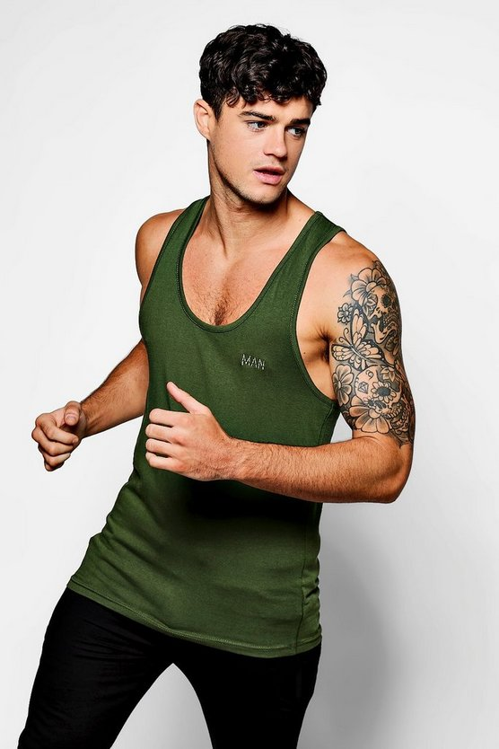 Scoop Neck MAN Skinny Fit Vest Backtape
