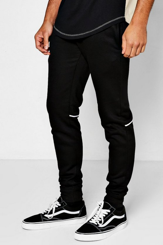 Skinny Fit Jogger With Pipe Panel Piping