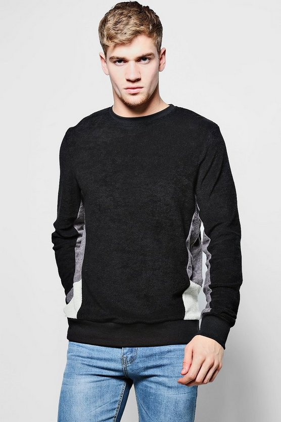 Cut And Sew Sweater In Towelling