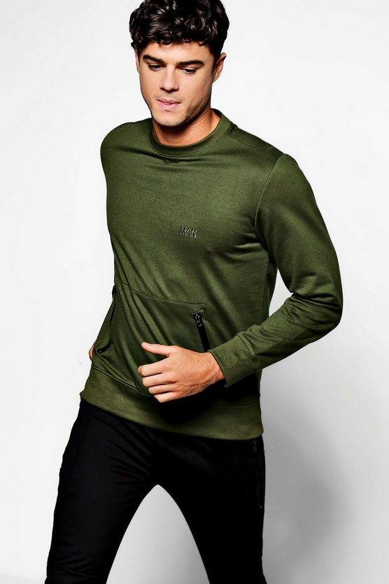 MAN Sweater With Sports Zips