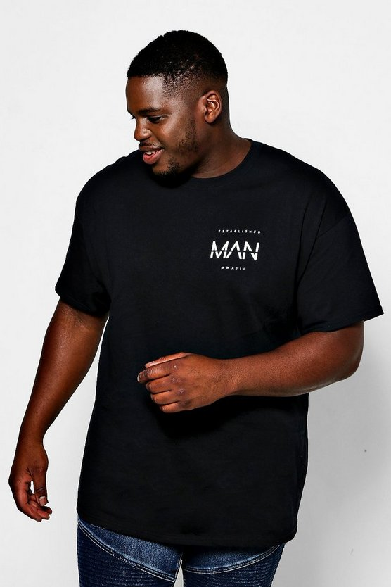 Big And Tall Est Man Chest Print T-Shirt