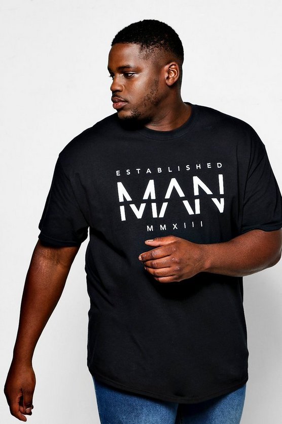 Big And Tall Est Large MAN Print T-Shirt