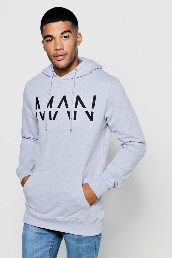 MAN Large Dash Over The Head Hoodie