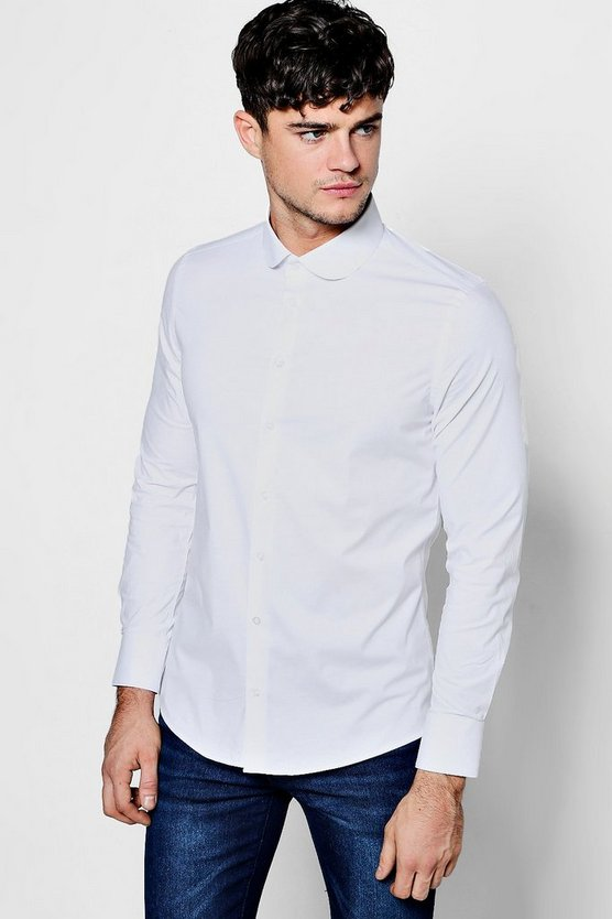 Slim Fit Stretch Penny Collar Shirt