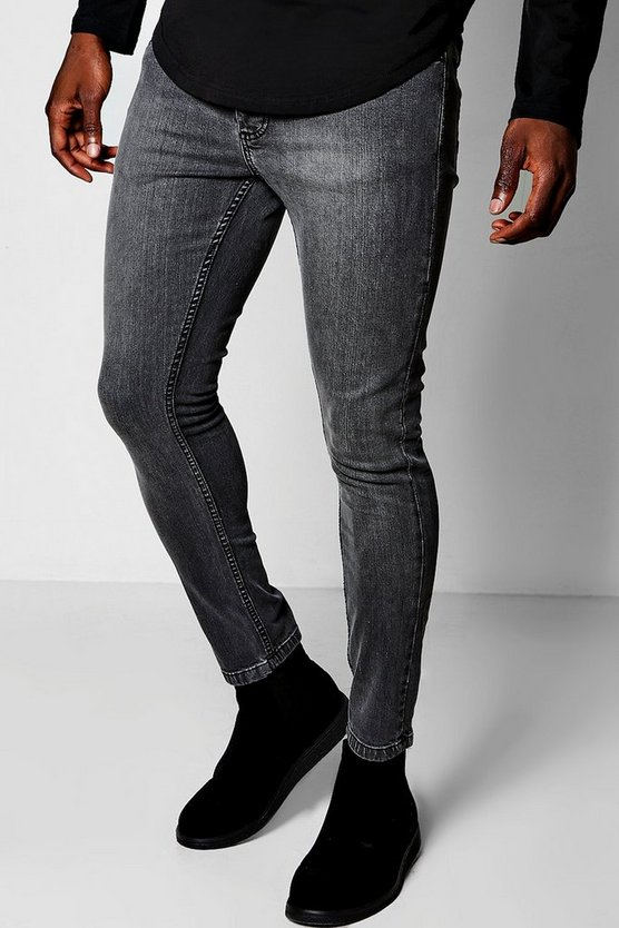 Charcoal Skinny Fit Jeans