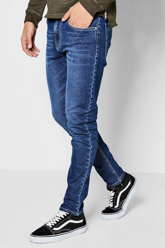 Skinny Fit Navy Wash Denim Jeans