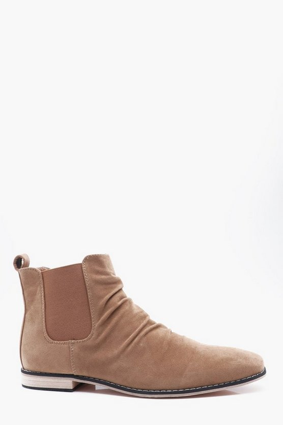 Wrinkle Front Chelsea Boots