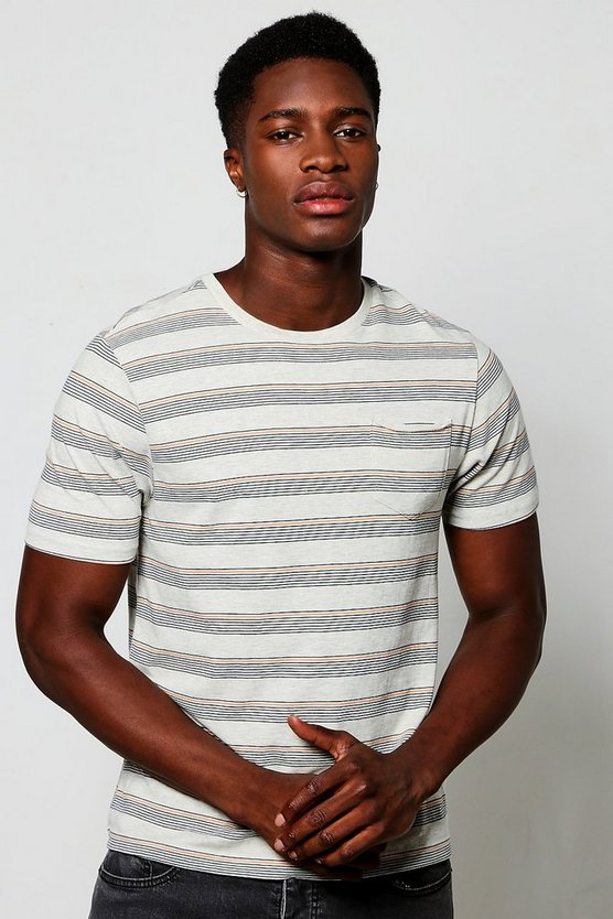 Contrast Slim Stripe T-Shirt