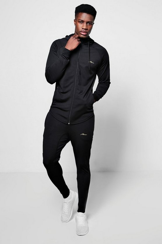 Muscle Fit Man Poly Tracksuit