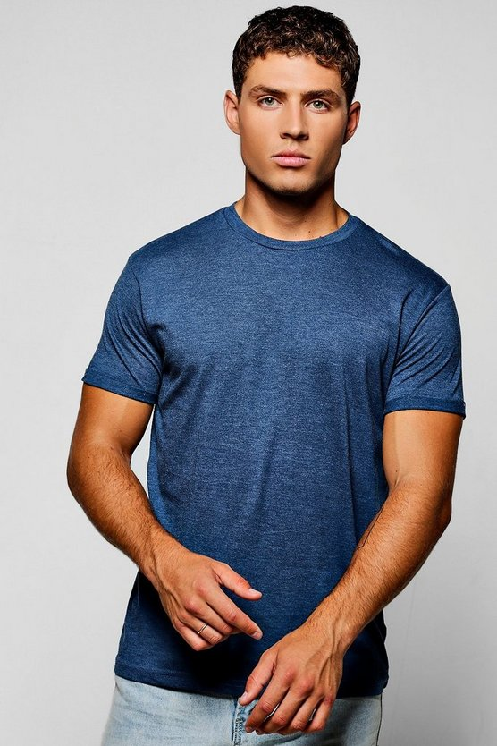 Crew Neck T-Shirt With Roll Sleeves