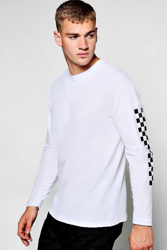 Long Sleeve T-Shirt With Check Print