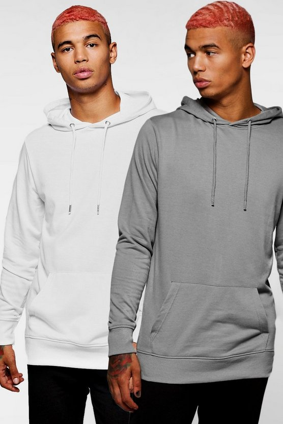 2 Pack Over the Head Hoodies in Regular Fit