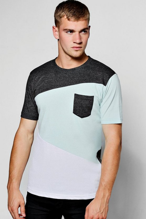 Spliced Space Dye T-Shirt
