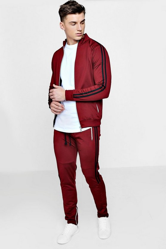 Muscle Fit Man Tricot Tracksuit