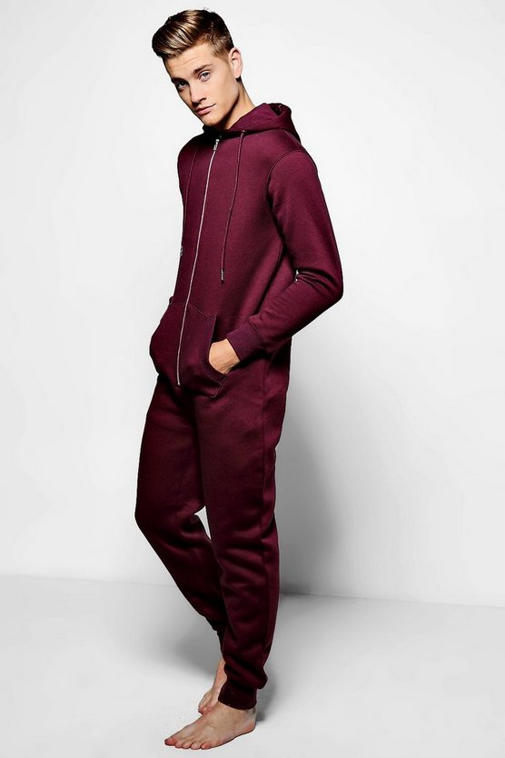 Burgundy Slim Fit Onesie