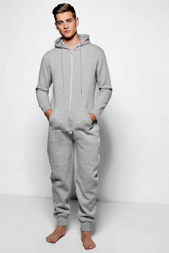 Grey Marl Slim Fit Onesie