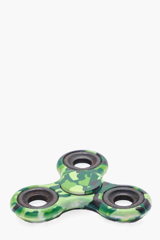 Camo Fidget Spinner - green - Green Camo Fidget Sp