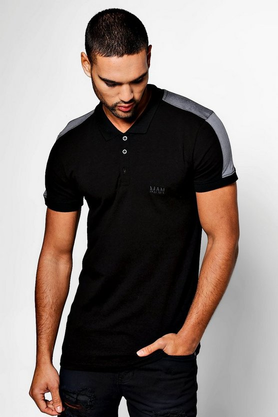 MAN Muscle Fit Polo With Panels