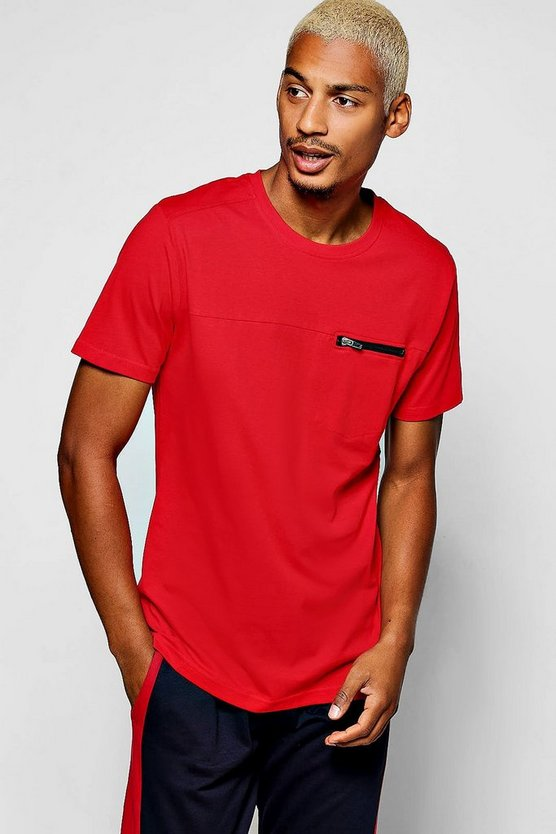 T-Shirt With Chest Zip Pocket