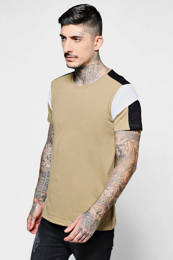 Shoulder Rib Detailing T-Shirt