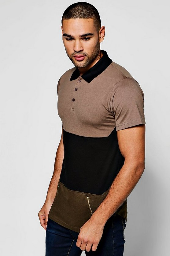 Polo Shirt With Zip Detailling