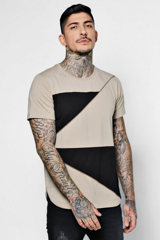Spiked Curved Hem T-Shirt