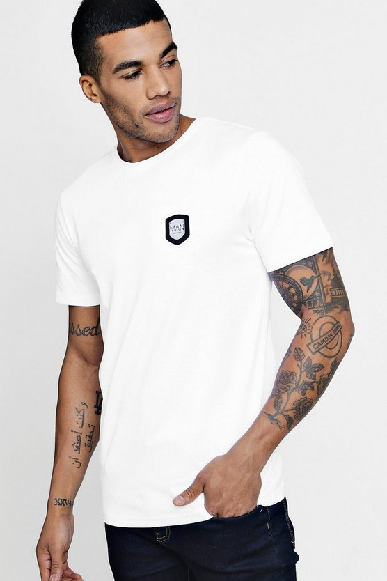 Premium T Shirt with MAN Embossed Plate
