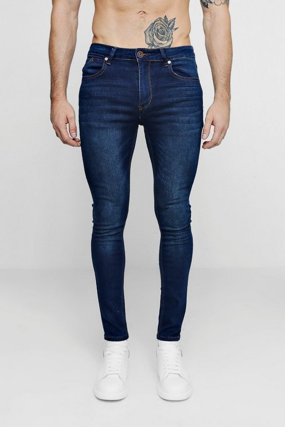 Dark Washed Indigo Super Skinny Fit Jeans
