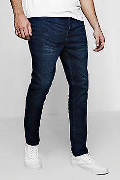 Indigo Stretch Skinny Cropped Jeans Whiskering